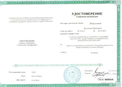 Удостоверение о повышении квалификации_2014_Пискуновой