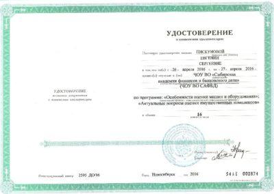 Удостоверение о повышении квалификации_2016_Пискуновой